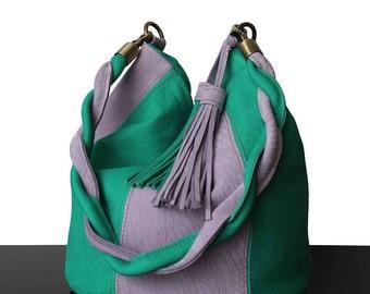 Bucket bag, bucket suede bag, Turquoise, bucket handbag, luxury bags, bags from France