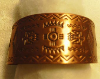 Vintage Bell Copper Cuff Bracelet Pre-WWII (New - Never Worn)