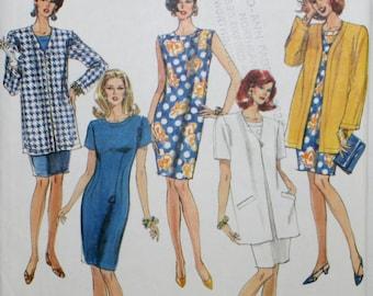 Simplicity 7787 Misses' Dress, Jacket Sewing Pattern New / Uncut Size 12,14,16