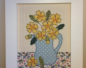 Textile Picture with Free Motion Embroidered Applique