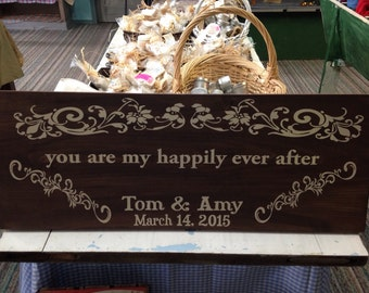 Sign with names and date this is great for wedding gifts or anniversary presents