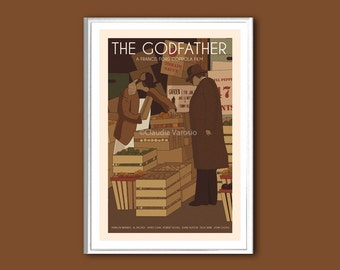 The Godfather I poster retro print in various sizes