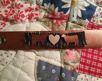 Show Heifer Heart Cuff