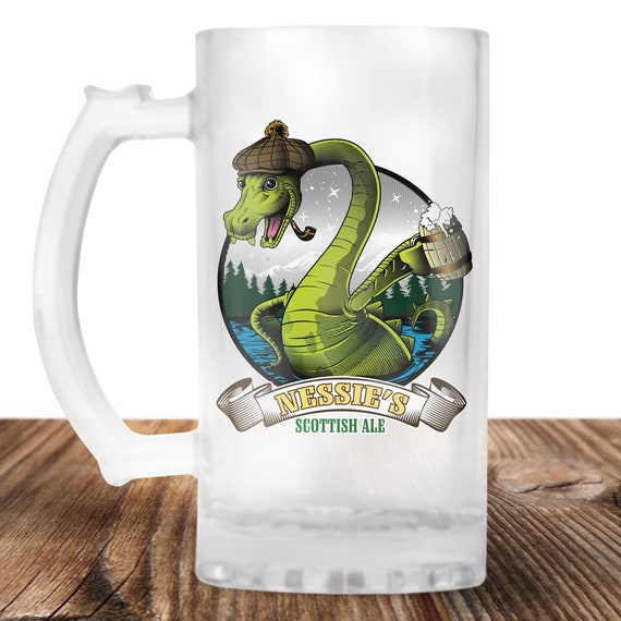 Lochness Monter Beer Stein- Ol Nessies Scottish Ale -Lochness Monster  -Craft Beer Mug -Beer Mug -Beer Lover Gift -Perfect Beer Lover Gift