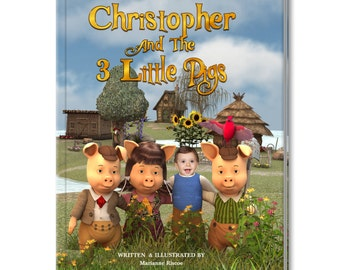 Me (Your Child's Name) And The 3 Little Pigs Personalized Story Book for Children
