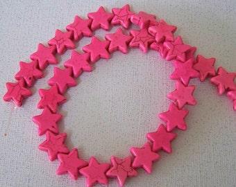 STAR Beads Starry Starry Night Little Pink Howlite Stone Strand