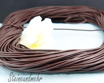 1m Leather strap Ø2 brown art. 3172