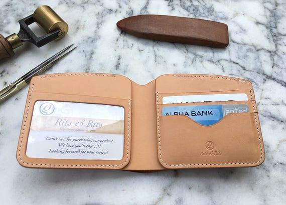 Handmade Bifold Leather Wallet