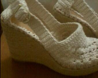 Crochet sandales - femmes sandales, réalisées sur commande, sandales de crochet en crochet