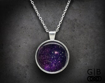 Purple Necklace Stardust Necklace Jewelry Purple Pendant - Purple Jewelry Stardust Necklace Purple Pendant - Stardust Purple Necklace