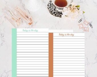 PRINTED, Personal sized, lined paper, inserts, planner inserts, macaroon theme, recollection planner inserts