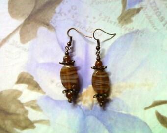 Honey Brown Earrings (1725)