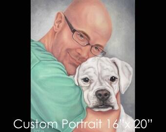 """16""""x20"""" Custom Portrait - Oil on Canvas by Maria Burd"""