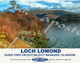 Vintage Style Railway Poster Loch Lomond A3/A2 Print