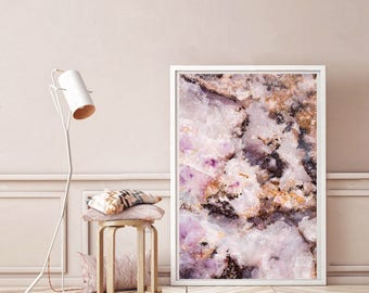 Mineral Photography - (Print # 003)  Ahmethyst   - Fine Art Print - Two Paper Choices- Mineral Geode Agate Crystal Decor