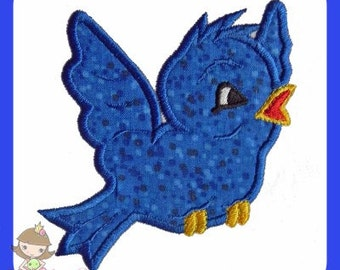 Blue Bird Applique design