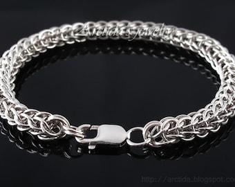 Men bracelet Full Persian chainmaille sterling silver bracelet - Mens jewelry men fashion southwestern sexy masculine male bracelets for men
