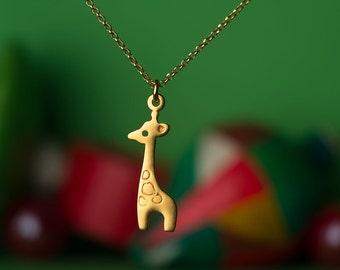 Giraffe Necklace Giraffe Charm Necklace Sterling Silver Giraffe Pendant Animal Jewelry animal pendant graduation gift Birthday necklace