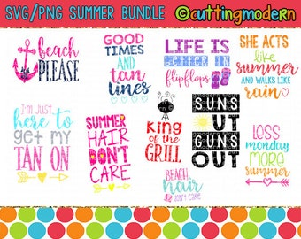 SVG Summer Bundle - Commerical Use Ok-  Huge Savings - Silhouette Cameo - Cricut- Vinyl Projects - Diy