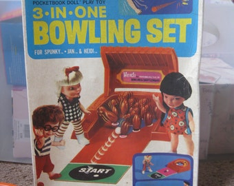 Remco Heidi Doll Bowling Set not completed 1960's