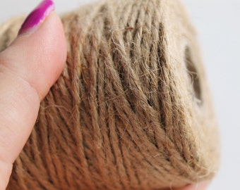 Jute twine - 200 m - 218 yards - natural cord - rustic cords, eco friendly, craft supplies, gift wrapping
