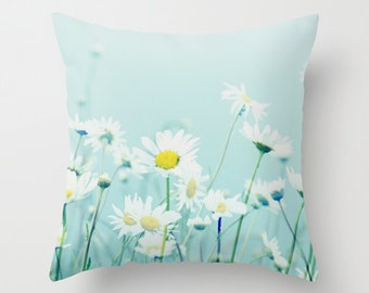 Throw Pillow Case, Daisy, Daisies, spring, summer, Nature, Home Decor, Photography by RDelean Designs
