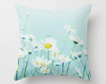 Kissenhülle, Gänseblümchen, Gänseblümchen, Frühling, Sommer, Natur, Home Decor, Fotografie von RDelean Designs