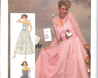 Simplicity 7420 UNCUT Misses' Dress pattern In Two Lengths and Lined Jacket Adjustable for Miss Petite  ID 424