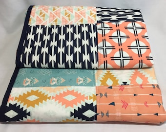 Baby Quilt, baby girl quilt