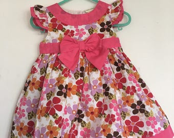 Laura Ashley floral print 100% cotton toddler dress 12 months