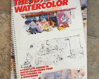 Vintage Watercolor Book/how to/gift