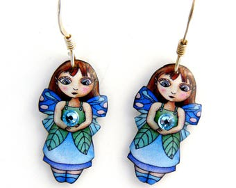 Blue Fairy earrings