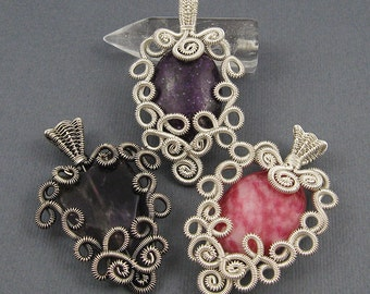 Lace Pendant - Wire Jewelry Making Tutorial