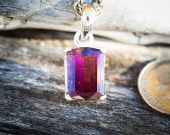 Rubellite Tourmaline Pendant -  Rubellite Tourmaline - Tourmaline Necklace - Pink Tourmaline - Pink Tourmaline necklace - Rubellite