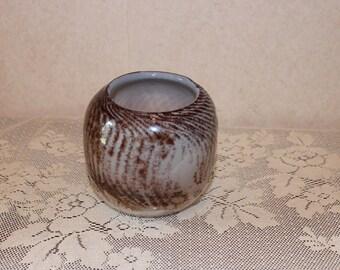 Beautiful Art Glass Bowl Vase – Artist Signed Whitehead