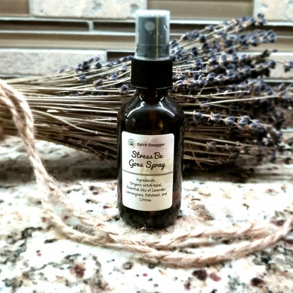 Crystal Infused Stress Relief Spray - Anxiety Relief - Calming Spray - Focus Spray