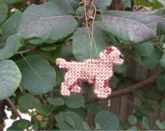 Border Terrier dog ornament home decor, for everyday display or Christmas - Discontinued, Price Reduced 40% off