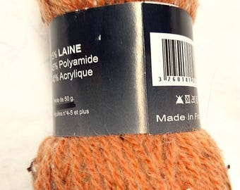 10 balls of wool/mechete / melon color / made in FRANCE