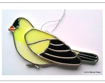 Stained Glass Goldfinch Sun Catcher