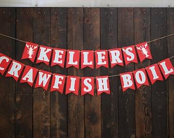 Crawfish Boil Birthday Party Banner