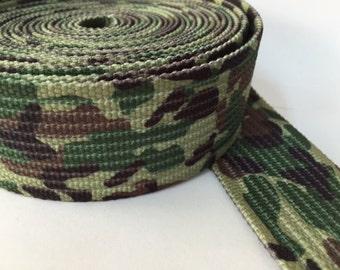 Camouflage Design Webbing, 1.8 in military webbing, belt webbing, printed belt webbing