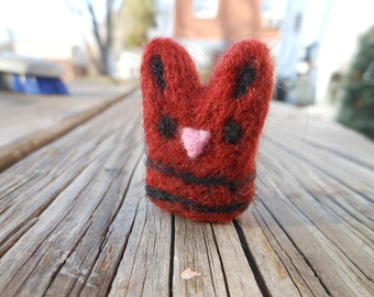 Miniature Tiny Wool Needle Felted Cat