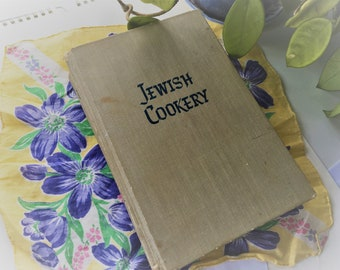 Jewish Cookery Vintage Cook Book by Leah W Leonard  1952