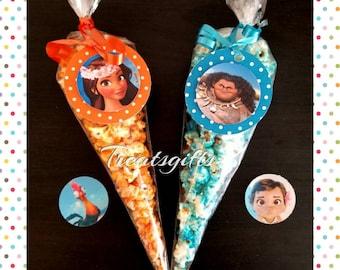 5 - Moana Birthday - Moana party favors - Moana candy popcorn - Moana goodie bags - Moana - Moana party supplies  - popcorn - candy popcorn