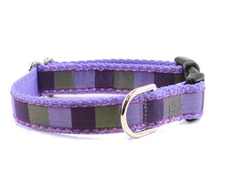"Lilac Puprle Spring Dog Collar - 3/4"" (19mm) Wide - Choice of size & style - Quick Release Buckle or Martingale Dog Collars"