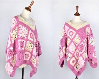 Granny Square Crochet Cape
