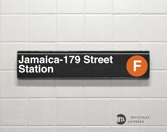 Jamaica- 179 Street Station - New York City Subway Sign - Wood Sign