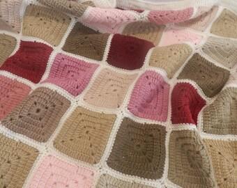 PLAID crocheted blanket