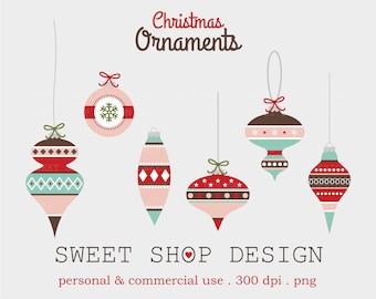 Christmas Ornaments Clip Art, Christmas Clip Art, Holiday Clip Art, Digital Clip Art, N15, Instant Download
