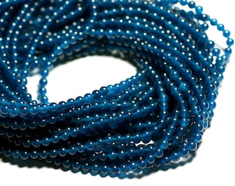 40pc - beads - Jade balls 4mm blue green Peacock - 4558550017420